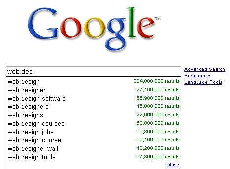 Google 추천검색어