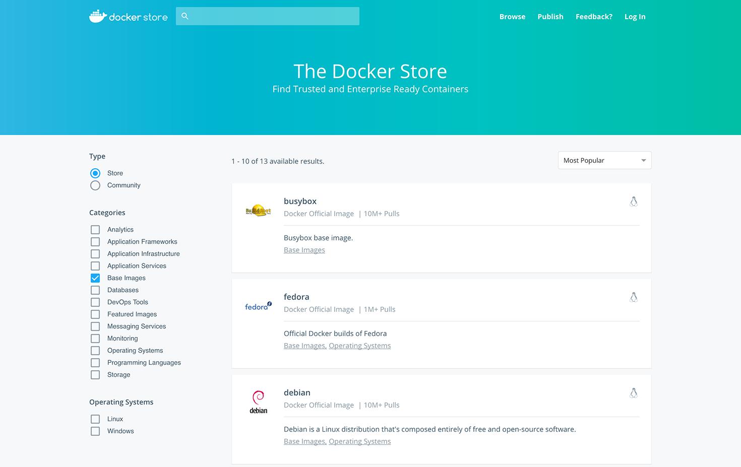 Docker Store